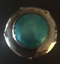 Arts & Crafts Peacock Eye Silver Enamel Brooch