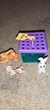 Littlest Petshop Kenner Vintage Lot Cheetah Bunny Mice Gerbil Hamster Cage