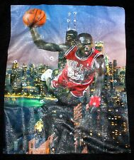 Chicago Bulls Basketball Micheal Jordan T Shirt Black Cotton 2XL USA Shaka Wear