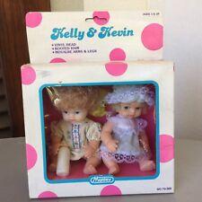 VINTAGE 1989#KELLY& KEVIN MINI DOLL TWIN  #MANLEY USA#NIB