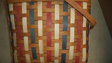 Longaberger Weekender Patriotic Basket - Warm brown and patriotic weaving - Nwt
