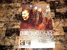 Killswitch Engage RARE Band Signed Disarm The Descent 2013 Promo Poster + COA
