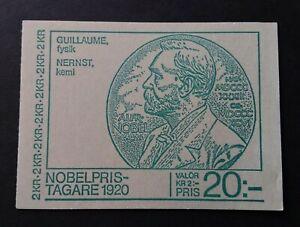 Sweden 1980 H327 20kr Nobel Prize Winners Booklet of 10 U/M