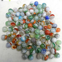 #12946m Vintage Group or Bulk Lot of 100 Mostly Vitro Agate Marbles