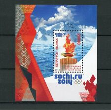 Belarus 2014 MNH Sochi Russia Winter Olympics 1v M/S Olympic Flame