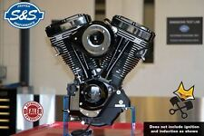 "S&S V111 BLACK EDITION LONG BLOCK 111"" ENGINE 585 CAMS HARLEY 84-99 EVO 310-0829"
