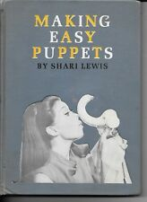 1967 MAKING EASY PUPPETS BOOK BY SHARI LEWIS HC NO DJ  LIBRARY BOOK