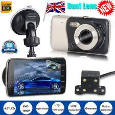 Dual Lens 1080P Dash Cam Car DVR Video Recorder Rearview Camera Night Vision #A