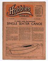 Vintage Hobbies Weekly Magazine Vol 110 No 2850 printed in 1950