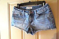 Aeropostale Womens Denim Short Shorts Regular 3/4 Regular