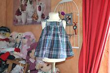 blouse bonpoint   12 mois carreaux petites bretelle adorable