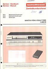 Nordmende original manual de servicio para vídeo Spectra Vision V 500 configuración
