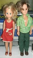 2 BAMBOLE VINTAGE DOLLS MATTEL 1973 THE SUNSHINE FAMILY COPPIA BOY,GIRL x,barbie