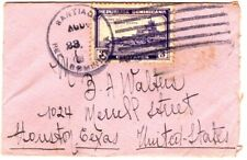 1934 Dominican Republic Santiago Small Cover to Houston Texas