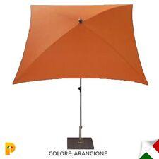 Maffei ombrellone palo centrale Kronos Art.136Q arancio poliestere 200x200 cm