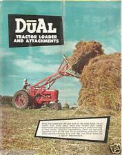 Farm Tractor Brochure - Dual Du-Al Loader Attachments Windrower - 6 page (F3546)