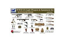 BRONCO AB3558 1/35 WWII US Light Weapon & Equipment Set