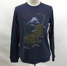 Obey Men's Crew Sweatshirt Tiger Style Mood Indigo Size M NWT Shepard Fairey