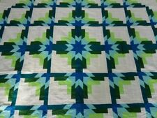 Queen size  Machine pieced patchwork quilt top #82