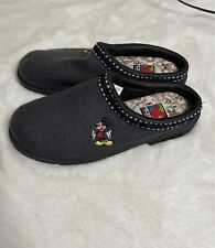 Vintage Mickey Embroidered Clog Shoe