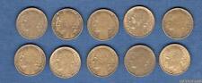 Lot de 10 pièces de 50 Centimes Morlon - III ème République, 1871 - 1940