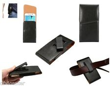 Leather Holster Executive Case Belt Clip Rotary 360º for Celkon Millennia Xplore