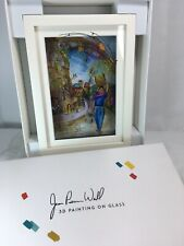 """Jean Pierre Weill """"Ruth""""  Vitreography 3D Painting on Glass Retired Bible theme"""