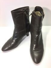Cole Haan Air Womens Leather Calf Boots Size 7B Brown Buckle Heels