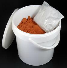 un seau de SABLE ROUGE de FONDERIE PRET A L'EMPLOI 4,5 kg + 100G de TALC