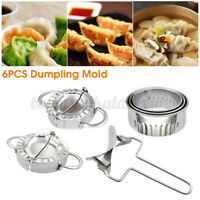 6pcs Stainless Steel Dumpling Mold Dough Presser Cutter Kitchen Baking Tools