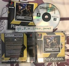 Urban Chaos PS1 (COMPLETE) action shooter Sony PlayStation rare black label