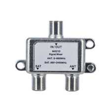 Jasen MX21D 2 In 1 Dual Use 2 Way TV Signal Satellite Coaxial Diplexer Combiner