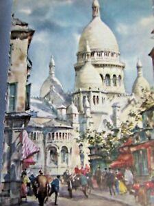ANTIQUE PARIS: LA BASILIQUE DU SACRE-COEUR COLLECTIBLE POSTCARD 4  X 6