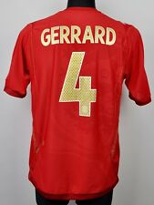 ENGLAND Away GERRARD #4 Medium Men Adult National Football Shirt Jersey Trikot M