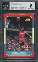 Michael Jordan Rookie Card 1986-87 Fleer #57 Authentic BGS 9 (8.5 9.5 9 9.5)