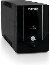 VULTECH UPS 650VA LITE + 2 SCHUKO GRUPPO DI CONTINUITA' OFFLINE NERO PC MONITOR