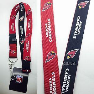 NFL Arizona Cardinals Clip On Keychain Lanyard