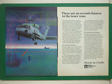 10/1984 PUB SIKORSKY SH-60B SEAHAWK CV/ASW US NAVY HELICOPTER ORIGINAL AD