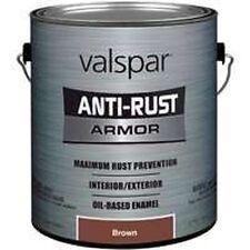 NEW GALLON VALSPAR 6404313 BROWN ANTI-RUST INDUSTRIAL ENAMEL OIL PAINT SALE