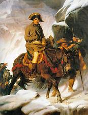 Napoleon Bonaparte Crossing the Alps Paul Delaroche Canvas Giclee Picture Poster