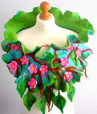 felted woman ART scarf  ,shawl-SPRING  BLOSSOM-