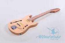 DIY Semi-Hollow Body Mahogany Bolt On Electric Guitar Kit Project G036