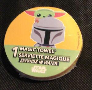 Disney Magic Towel BABY YODA from The Mandalorian Groguo  STAR WARS Washcloth