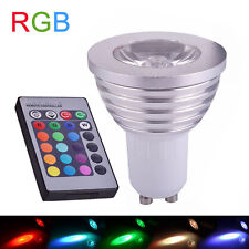 5 Set GU10 RGB LED 3W 16 Color Changing Lamp Light Bulb 85-265V + 24 Key Remote
