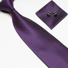 Woven Silk Necktie HandMade Mens Tie Cufflinks and Handkerchief Set Hanky Gift