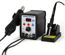 YIHUA 2in1 Soldering Solder Station SMD Rework Iron with Hot Air Gun 8786D 220V