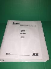 Lull Highlander parts Manual 644 equipment technician book