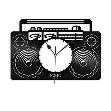 Boombox Vinyl Wall Clock Unique Gift for Music Lovers Home Room Decoration
