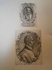 Planche gravure  Moyen age Thomas de Leu Portrait de Pontus de Thyard / Brach