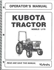 Kubota L175 Tractor Operator's Manual W/ Maintenance 34159-19716